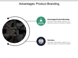 Advantages Product Branding Ppt Powerpoint Presentation Infographics Show Cpb