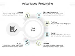 Advantages Prototyping Ppt Powerpoint Presentation Infographics Cpb