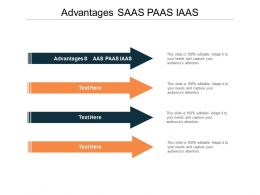 Advantages SAAS PAAS IAAS Ppt Powerpoint Presentation Layouts Diagrams Cpb