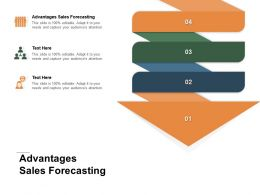 Advantages Sales Forecasting Ppt Powerpoint Presentation Visual Aids Model Cpb