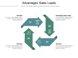 Advantages Sales Leads Ppt Powerpoint Presentation Pictures Slide Cpb