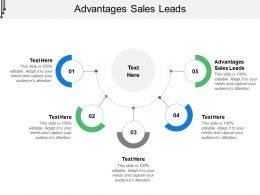 Advantages Sales Leads Ppt Powerpoint Presentation Slides Diagrams Cpb