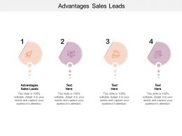 Advantages Sales Leads Ppt Powerpoint Presentation Slides Examples Cpb
