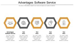 Advantages Software Service Ppt Powerpoint Presentation Ideas Microsoft Cpb
