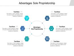 Advantages Sole Proprietorship Ppt Powerpoint Presentation Icon Rules Cpb