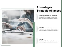 Advantages Strategic Alliances Ppt Powerpoint Presentation Icon Information Cpb