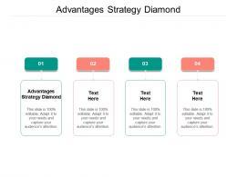 Advantages Strategy Diamond Ppt Powerpoint Presentation Inspiration Shapes Cpb