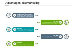 Advantages Telemarketing Ppt Powerpoint Presentation File Deck Cpb