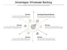 Advantages Wholesale Banking Ppt Powerpoint Presentation Ideas Show Cpb