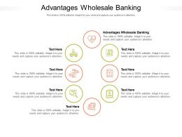 Advantages Wholesale Banking Ppt Powerpoint Presentation Show Designs Cpb
