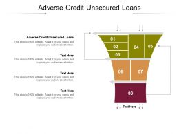 Adverse Credit Unsecured Loans Ppt Powerpoint Presentation Infographic Template Inspiration Cpb