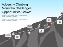 Adversity Climbing Mountain Challenges Opportunities Growth