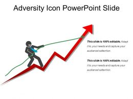 Adversity Icon Powerpoint Slide
