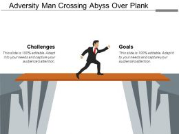 Adversity Man Crossing Abyss Over Plank