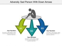 Adversity Sad Person With Down Arrows