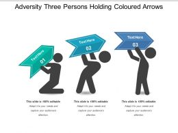 Adversity Three Persons Holding Coloured Arrows