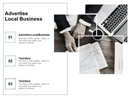 Advertise Local Business Ppt Powerpoint Presentation Diagram Graph Chart Cpb