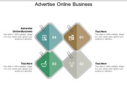 Advertise Online Business Ppt Powerpoint Presentation Summary Microsoft Cpb