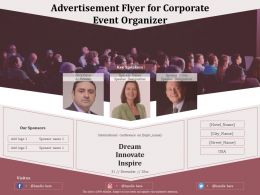 Advertisement Flyer For Corporate Event Organizer