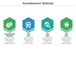 Advertisement Methods Ppt Powerpoint Presentation File Skills Cpb