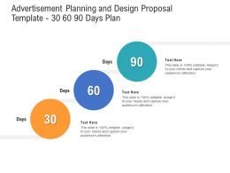 Advertisement Planning And Design Proposal Template 30 60 90 Days Plan Ppt Examples