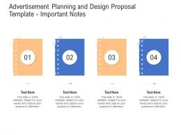 Advertisement Planning And Design Proposal Template Important Notes Ppt Powerpoint Graphic Tips