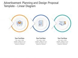 Advertisement Planning And Design Proposal Template Linear Diagram Ppt Powerpoint Portfolio