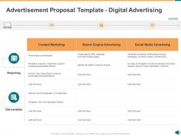 Advertisement Proposal Template Digital Advertising Ppt Powerpoint Presentation File Outfit