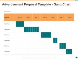 Advertisement Proposal Template Gantt Chart Ppt Powerpoint Presentation Infographics Example