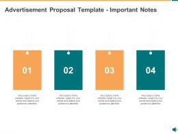Advertisement Proposal Template Important Notes Ppt Powerpoint Presentation Good