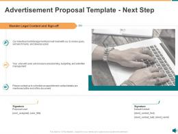 Advertisement Proposal Template Next Step Ppt Powerpoint Presentation Icon Graphic Images