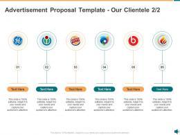 Advertisement Proposal Template Our Clientele Ppt Powerpoint Presentation Slides Good