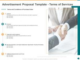 Advertisement Proposal Template Terms Of Services Ppt Powerpoint Presentation Graphics