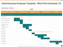 Advertisement Proposal Template Work Plan Schedule Analytics Ppt Powerpoint Presentation Pictures