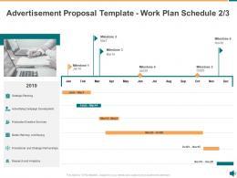 Advertisement Proposal Template Work Plan Schedule Buying Ppt Powerpoint Presentation Summary