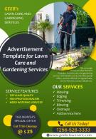 Advertisement Template For Lawn Care And Gardening Services Presentation Report Infographic PPT PDF Document