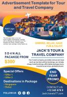 Advertisement Template For Tour And Travel Company Presentation Report Infographic PPT PDF Document