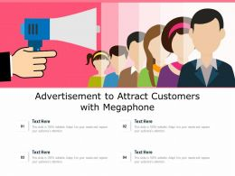 Advertisement To Attract Customers With Megaphone