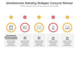 Advertisements Marketing Strategies Consumer Behavior Ppt Powerpoint Presentation Cpb