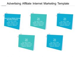 Advertising Affiliate Internet Marketing Template Ppt Powerpoint Slides Cpb