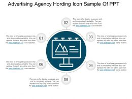 Advertising Agency Hording Icon Sample Of Ppt