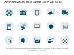 Advertising Agency Icons Sample Powerpoint Guide
