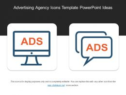 Advertising Agency Icons Template Powerpoint Ideas