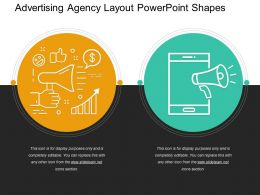 Advertising Agency Layout PowerPoint Shapes