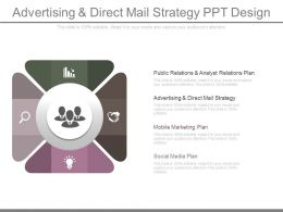 Advertising And Direct Mail Strategy Ppt Design