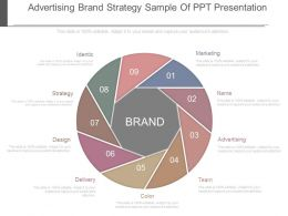 Advertising Brand Strategy Sample Of Ppt Presentation