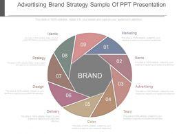 Advertising Brand Strategy Sample Of Ppt Presentation