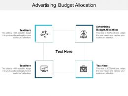 Advertising Budget Allocation Ppt Powerpoint Presentation Model Layouts Cpb