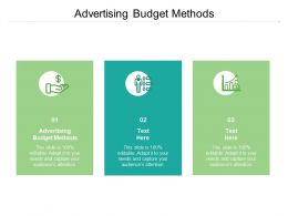 Advertising Budget Methods Ppt Powerpoint Presentation Slides Show Cpb