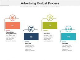 Advertising Budget Process Ppt Powerpoint Presentation Show Layout Cpb